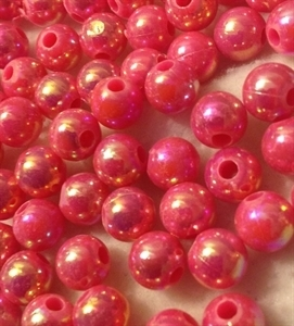 Picture of BD8RR4  8mm RAINBOW PINK round plastic beads