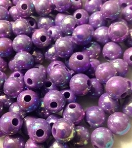 Picture of BD8RR10 8mm RAINBOW PURPLE round plastic beads
