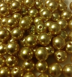 Picture of BD12R3  12mm GOLD round plastic beads