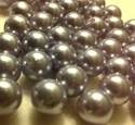 Picture of BD12R12  12mm GRAY round plastic beads