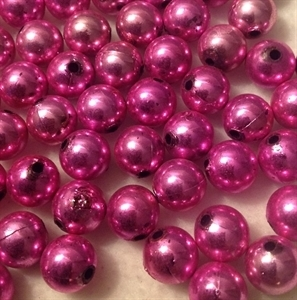 Picture of BD12RM4C  12mm pink metallic round plastic beads