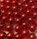Picture of BD12RM5  12mm METALLIC RED round plastic beads