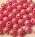 Picture of BD12RR4  12mm RAINBOW PINK round plastic beads