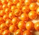 Picture of BD12RR8  12mm RAINBOW ORANGE round plastic beads