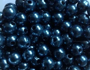 Picture of BD8R7  8mm blue opaque round plastic beads