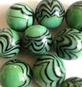 Picture of MM3048B HANDMADE 16MM Green w/black, set of 10