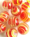 Picture of MM3048F HANDMADE 16MM Clear w/red & yellow, set of 10