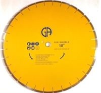 "Picture of DW73  18IN Silver Brazed Segmented Saw Blade for Concrete & Marble. ""Sandwiched"" Blade for ""Quieter"" Cutting"