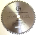 "circular saw blade - Carbide 10 in. 60 tooth    chop & table saw blade for Wood with Nails Arbor 1"" w/ shim to 5/8"""