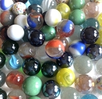 """Picture of EBAY2 Game Marbles MIXED 50 - 5/8"""" & 2 - 1"""" Shooters"""