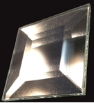 """2"""" x 2"""" clear square glass bevel"""