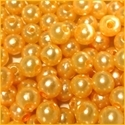 Picture of BD8R2  8mm YELLOW round plastic beads