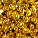 Picture of BD8RM3  8mm METALLIC GOLD round plastic beads