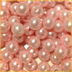 Picture of BD8R4A  8mm LIGHT PINK round plastic beads