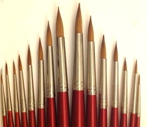Picture of ART012  Sable Hair Paint Brush 15pc set Round Style