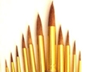 Picture of ART148  pony hair paint, round golden ferrules
