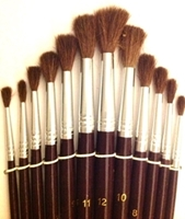 Picture of ART154  camel hair paint brush, round, nickel seamless furrules
