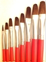 Picture of ART157  Pony Hair Filbert Style Paint Brush Set 8pcs