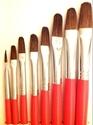 Picture of ART157  Pony Hair Filbert Style Paint Brush Set 8pcs
