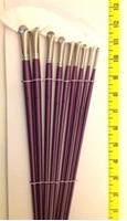 Picture of ART185  White Synthetic Hair Fan Style Paint Brush Set 9pcs