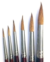 Picture of ART195  sable hair paint brush 6pc set  round style