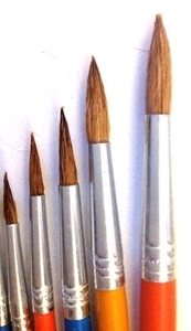 Picture of ART210  goat hair paint brush 6pc set  round style
