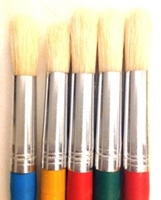 Picture of ART214  bristle hair paint brush 5pc set round style