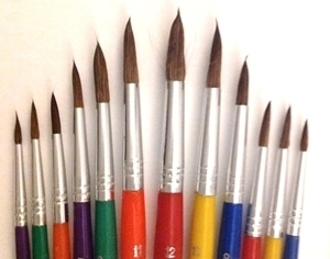 Picture of ART216  goat hair paint brush 12pc set round style
