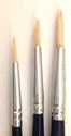 Picture of ART238  triple bristle hair paint brush package, round style