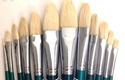 Picture of ART720  Bristle Hair Filbert Style Paint Brush Set 12pcs