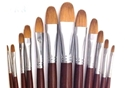 Picture of ART988  Sable Hair Filbert Style Paint Brush Set 12pcs