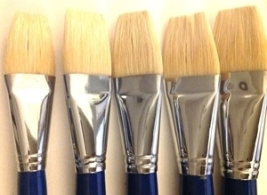 Picture of ART6158  Bristle Hair Paint Brush 5pc Set Flat Style