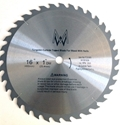 """Picture of TC636N 16""""36T for Wood with Nails 1"""" Arbor shim to 5/8"""""""