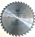 """Picture of TC836N 18"""" 36 TOOTH Carbide Saw Blade for WOOD with NAILS"""